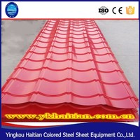 Superior Roof tile used for building house, popular colorful zinc coated metal roofing tile