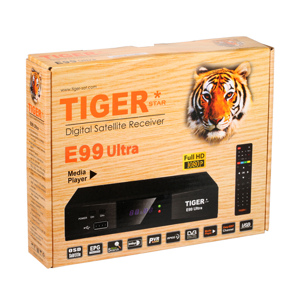 Hot selling Tiger E99 Ultra hd world tv receiver with DVB S/S2