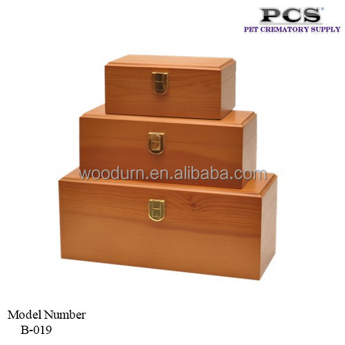 MKY Cremation Lightweight Pine Wood Box