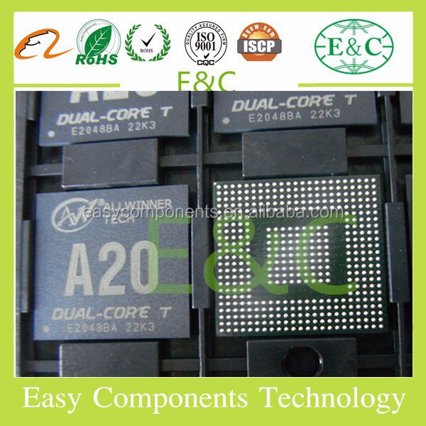 New and Original tablet pc ic allwinner a20 <strong>A10s</strong> A31s H3 H8 V3 V10 V15 BGA ic chip
