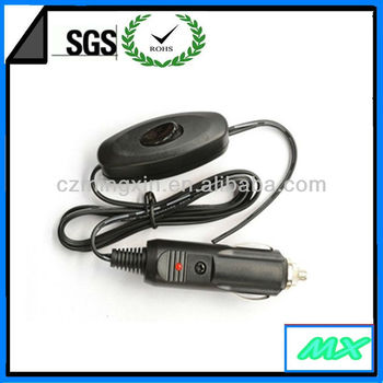 12 volt power outlet universal car cigarette plug with switch
