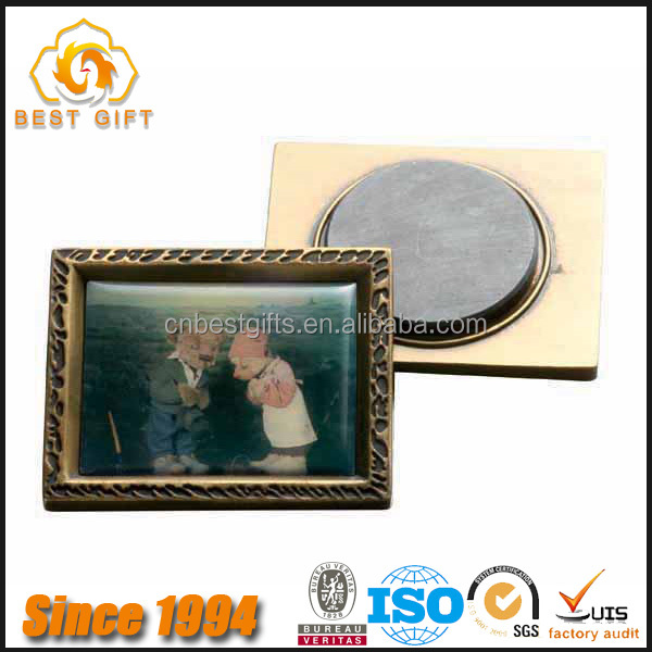 Hot Promotional Personalized Square Metal Photo Fridge Magnets