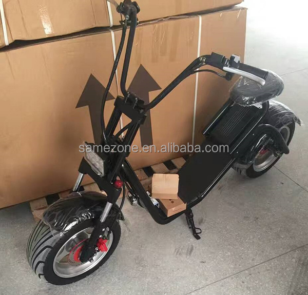 EXPORTSAFE BATTERY EcoRider Two Seat Harley Electric Scooter Motor City CoCo 1000w Electric Scooter with OEM ability