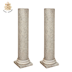 Custom Outdoor Ornamental Hand Carving Stone Columns NTMH-054Y