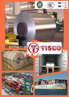 TISCO top quality 201 304 316 430 stainless steel coil prices