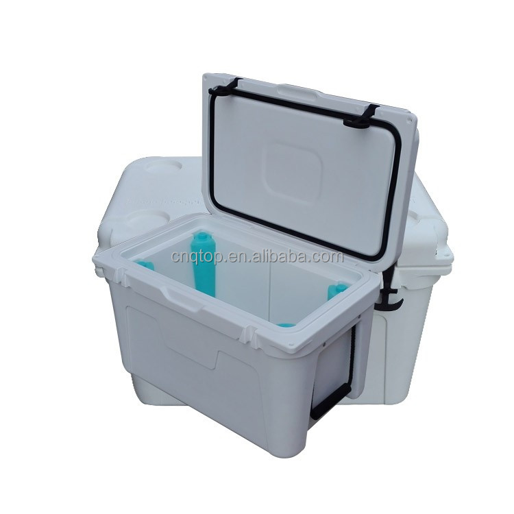 52L white rotomolded coolers box ice chest for food cold storage