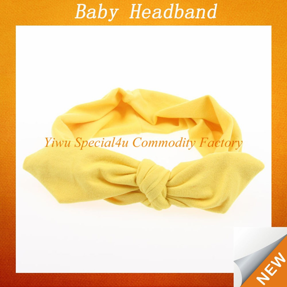 fancy knitted baby headband/baby stretch headbands/baby knot headbands SFUH-031