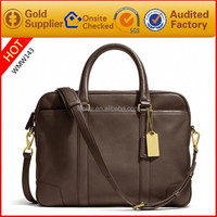 Factory Wholesale Man laptop Bag Tote bags over the shoulder Brown leather men bags