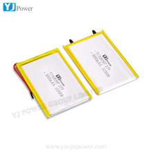 2015 China high power track thin battery3.7v 2000mah 3000mah 5000mah lithium battery with 6.2*65*97mm for laptop battery