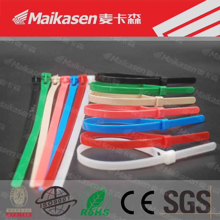 China Supplier Customized White Nylon Cable Zip Ties Self Locking