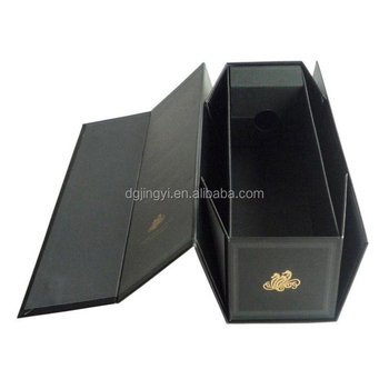 Foldable wine glass storage box with handle/packaging wine box