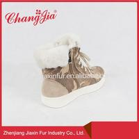 Simple Style Real Sheepskin Ankle Boot On Sale