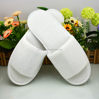 Promotional Terry Hotel Slippers in EVA Sole Cotton SPA Household Travel Disposable Slippers