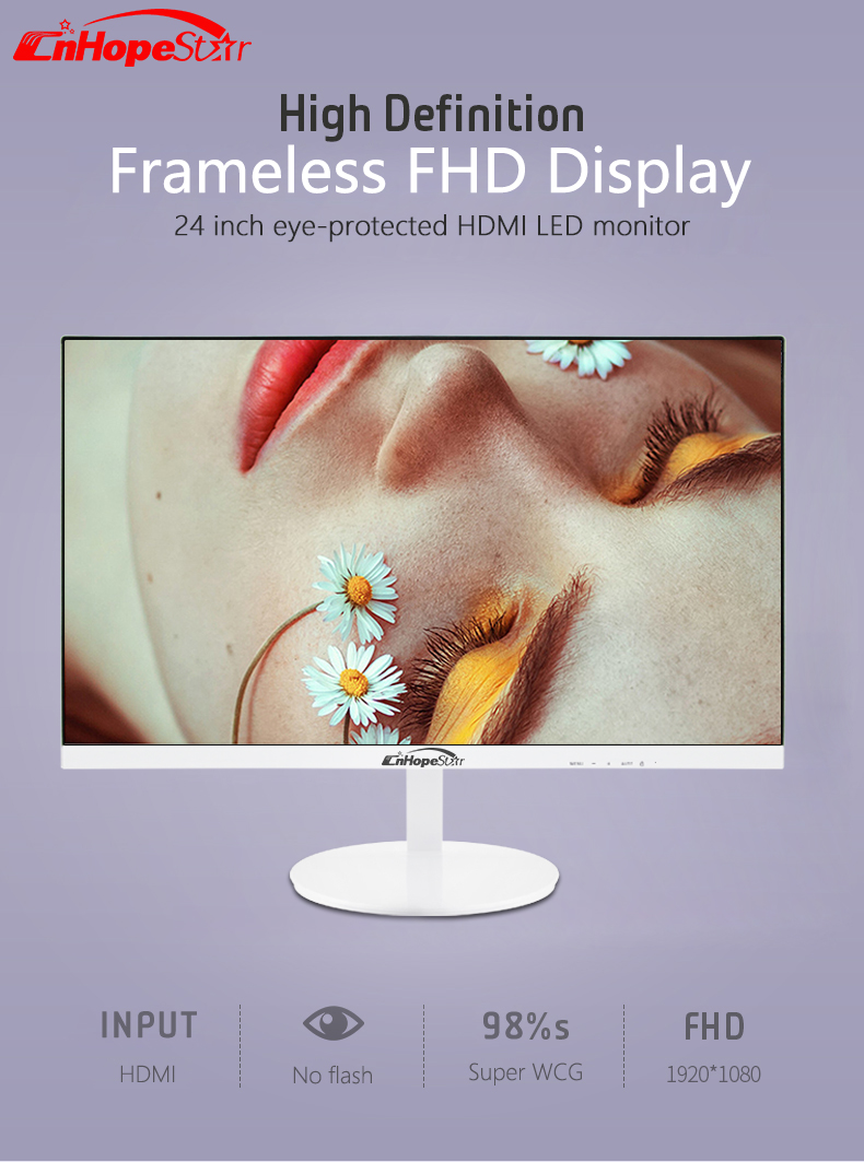 24 Zoll Frameless Desktop Computer Gaming Monitor 144Hz