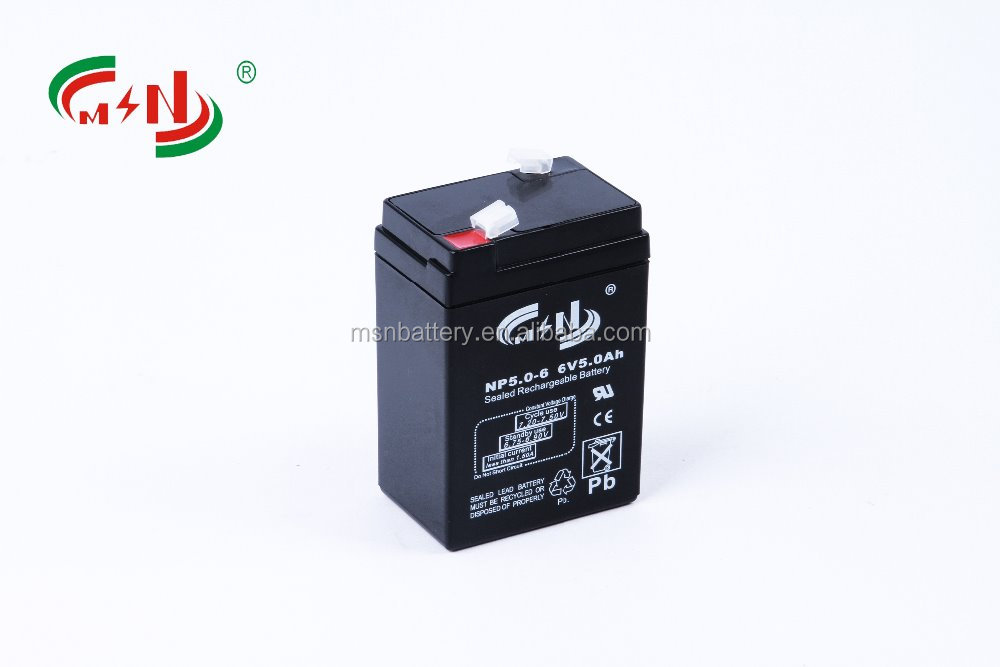 6v 5ah rechargeable batteries with high quality/MF lead-acid battery