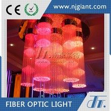 Jiangsu Giant Large Fiber Optic Chandelier For Hotel Lobby Chandelier