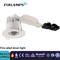 Fullamps 12W cob led fire rated downlight BS476 90min test UK standard original sharp cob led friend driver