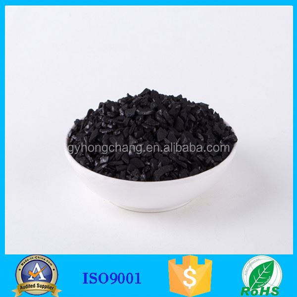 Commercial activated carbon applied to biochemicals base