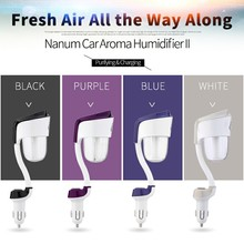 2016 new design Car mist Purifier Portable ultrasonic Aromatherapy essential oil aroma Diffuser humidifier usb glass car