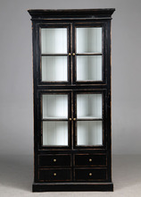 Classicl French Country Style Display Cabinet with drawer