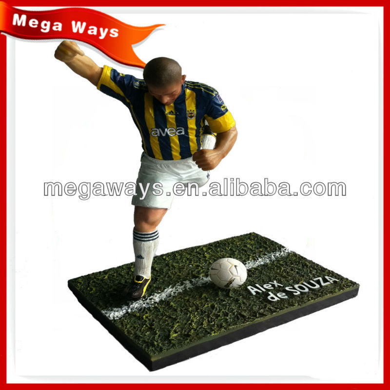 7 inch realistic PVC custom football player action figure for collection