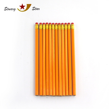 Top selling yellow art wooden pencils with eraser