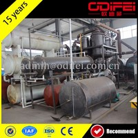 Hot Sell Used Tyre Rubber Refinery Pyrolysis Equipment To Engine Oil