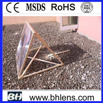 large fresnel lens DIY Solar Water Heating Using Fresnel Lenses