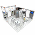 Detian offer aluminum truss display exhibition booth design stand display exhibition stand