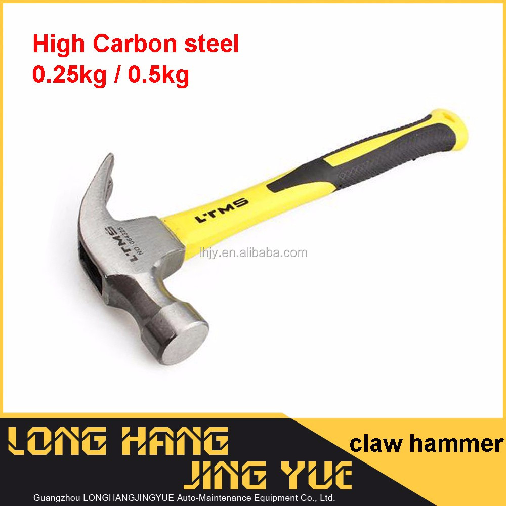 High quality steel claw hammer fiber shark nail hammer carpenter hammer
