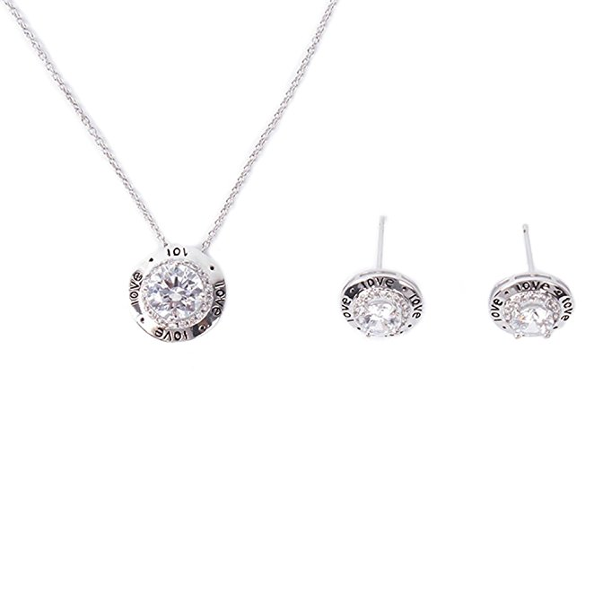 Fashion 925 sterling silver bridal jewelry set