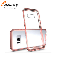 For Samsung Galaxy S8 Case Transparent Clear Acrylic Mobile Phone Back Cover Case for Samsung S8 plus