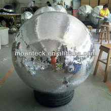 "hot sale stage decoration for new year 200cm 80"" giant christmas mirror ball ornments"