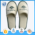 high quality Newly design disposable hotel slippers with customized embroidery logo