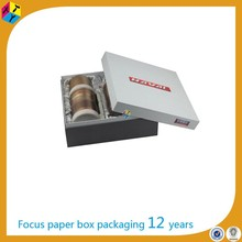 custom luxury rigid cardboard paper box gift packaging