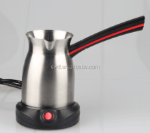 Turkish stainless steel coffee warmer with bakelite handle