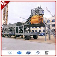 Widely Used 25M3/H Yhzs 25 Mini Mobile Ready Mixed Concrete Batching Plant Price
