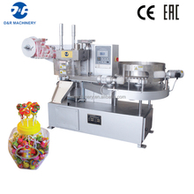 Small food packing machine high effectivy, automatic lollipop wrapping machine