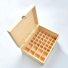 Stock and wholesale 38 grid storage container 15ml 100ml essential oil dropper bottles packaging wood box large wooden box
