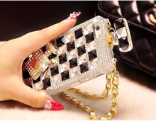 Good market bumper case with tpu material hand made diamond case for iphone5/6/6plus cover