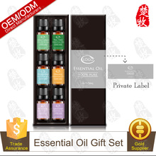 Private Label Factory Supply 100% Pure and Natural Essential Oils Gift Set 10ml/6pcs Health Care Product