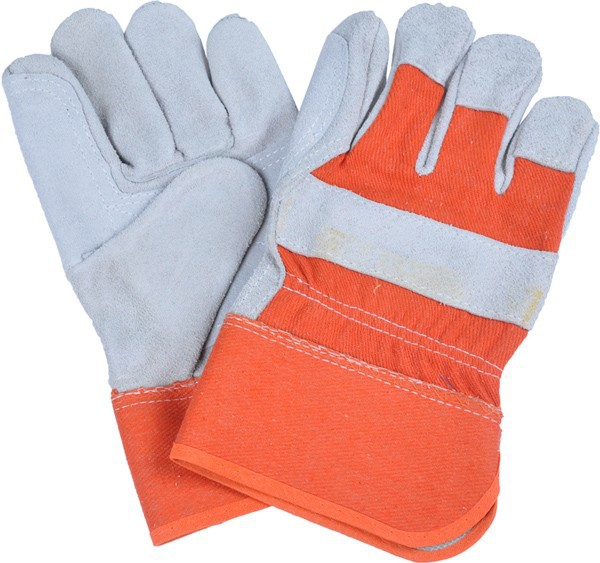 Soft double palm leather working gloves
