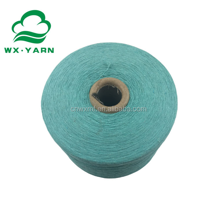 Wenzhou factory dyed recycled cotton yarn for weaving use