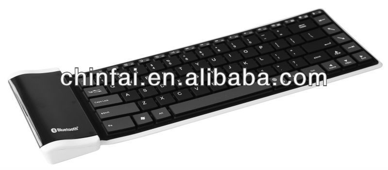 Silicon roll-up bluetooth keyboard for ipad/android/tablet PC