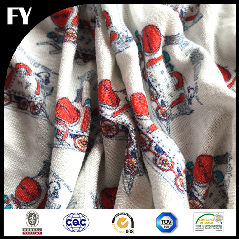 Custom digital 100% cotton motorcycle print fabric