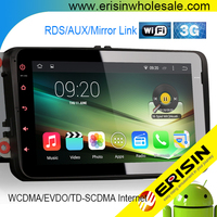 "Erisin ES2802V 8"" Android 4.4.4 Car Media CD Player with Bluetooth USB GPS 3G WiFi"