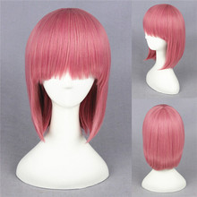 cheap short 40CM pink Lolita Bobo female Cosplay synthetic wig