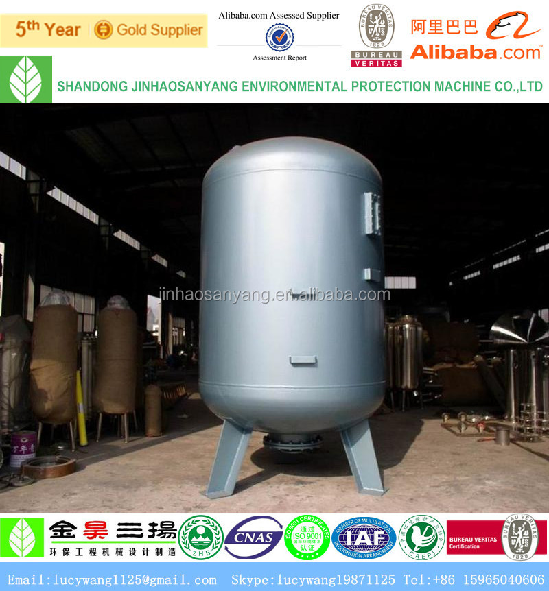 Quartz sand filter for water storage tank