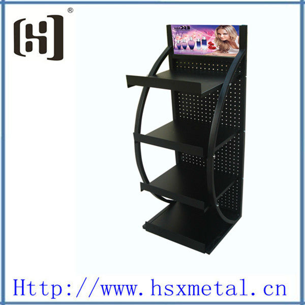 black grocery store make up cosmetics display stand HSX-1225
