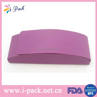 Wholesale cheap personalized hard pu leather handmande glasses case with magnet